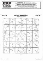 Grant Township, Clair Creek, Ives Creek, Directory Map, Antelope County 2006